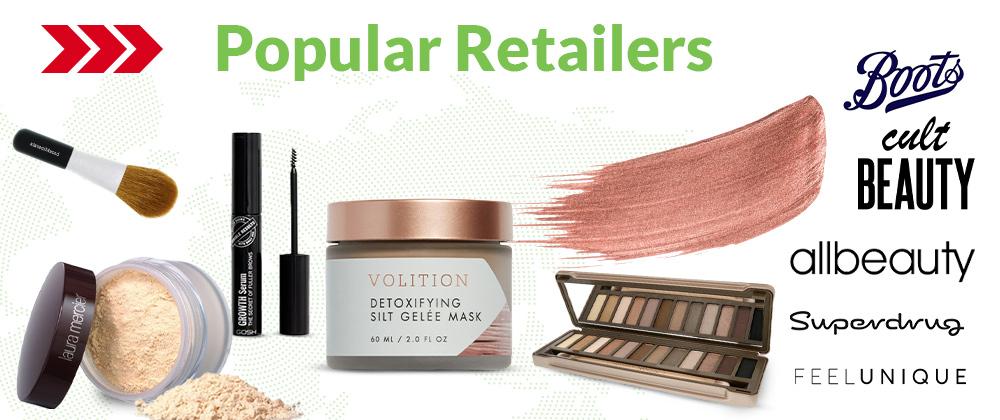 Popular retailers